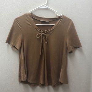 Brown crop top